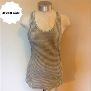 Lucy striped tank top active workout
